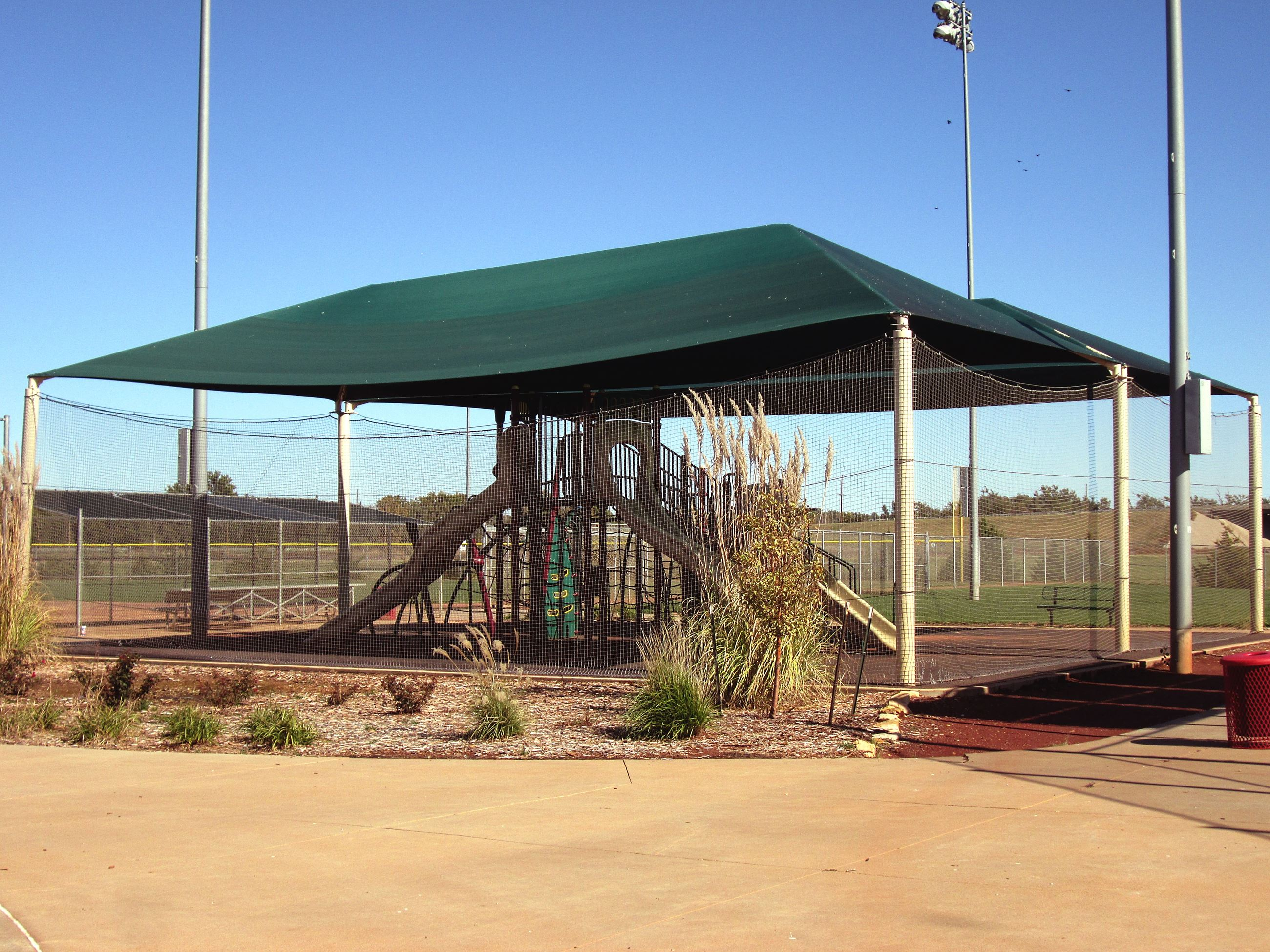 Playground Structure Under Awning
