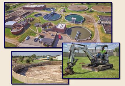 Multiple Images of the New Water Plant Construction