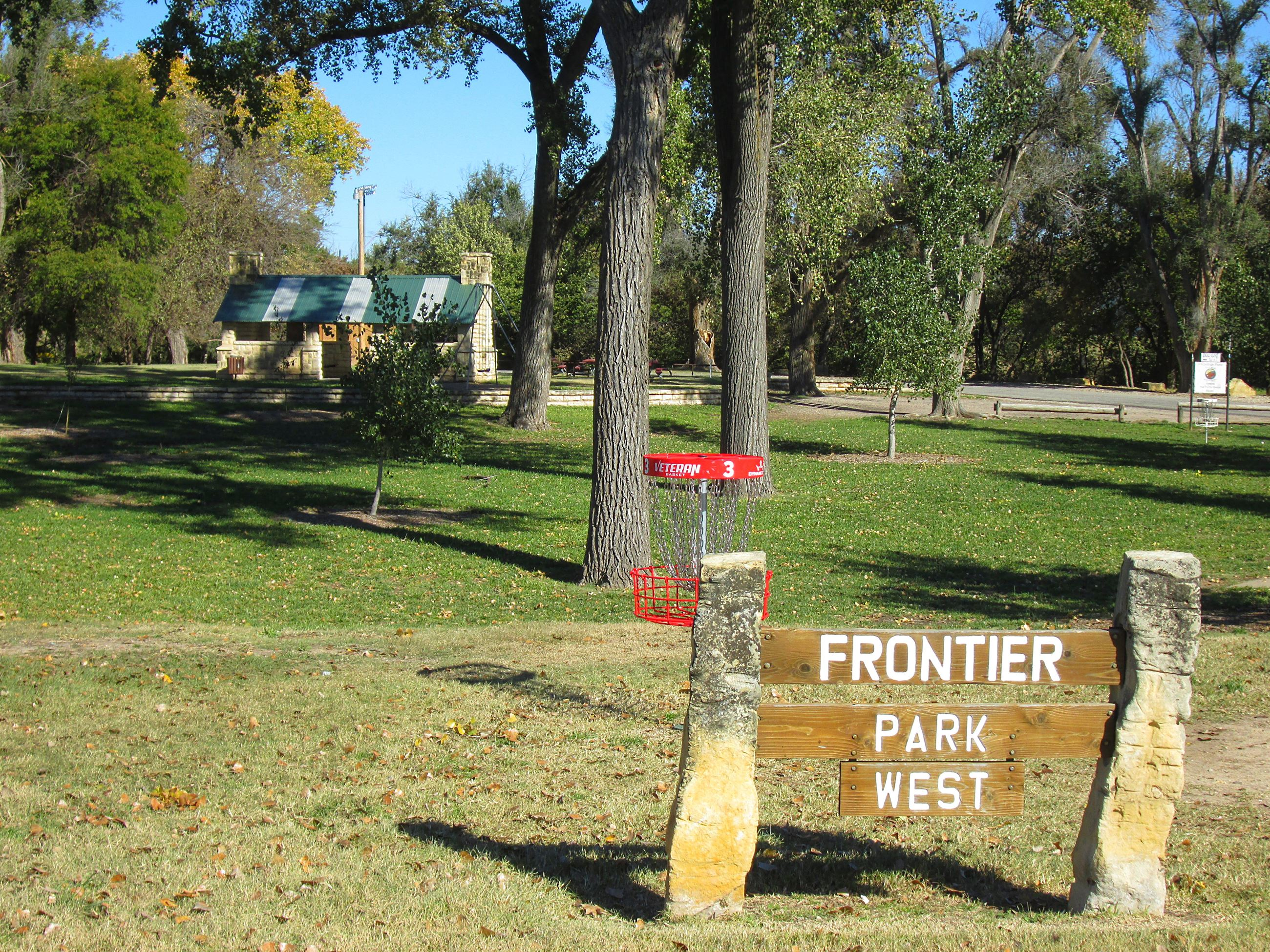 Frontier West park entrance sign