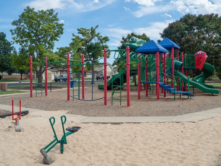 Hickok playground with sand