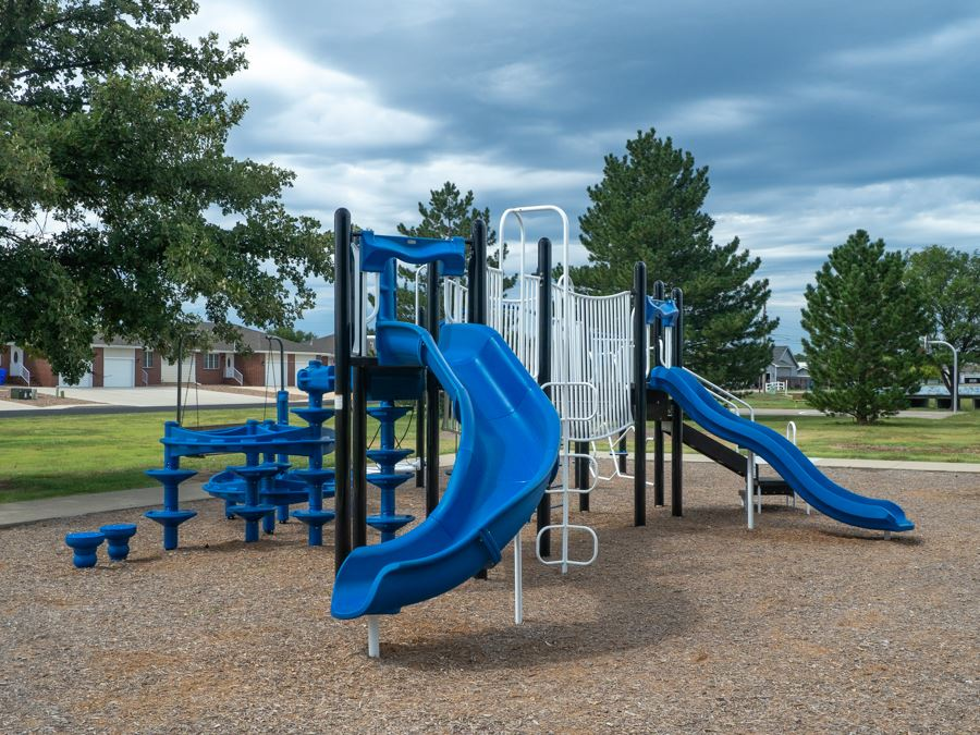 Kiwanis playground with slides