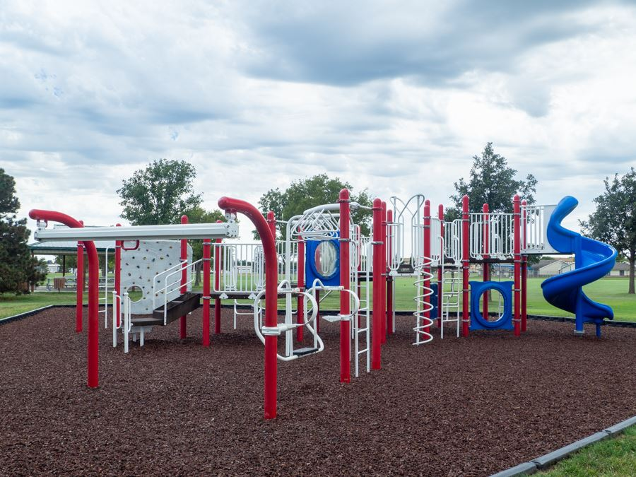 Red White and Blue Playground Structure