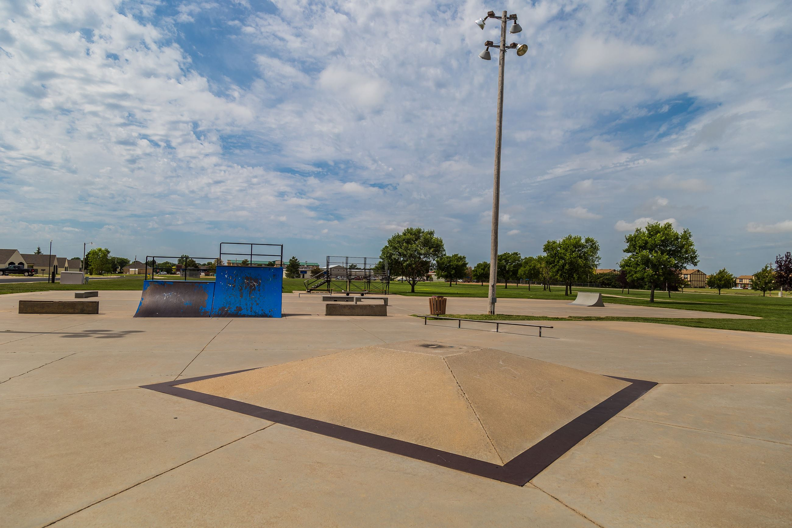 Open Concrete Terrain at Skate Park
