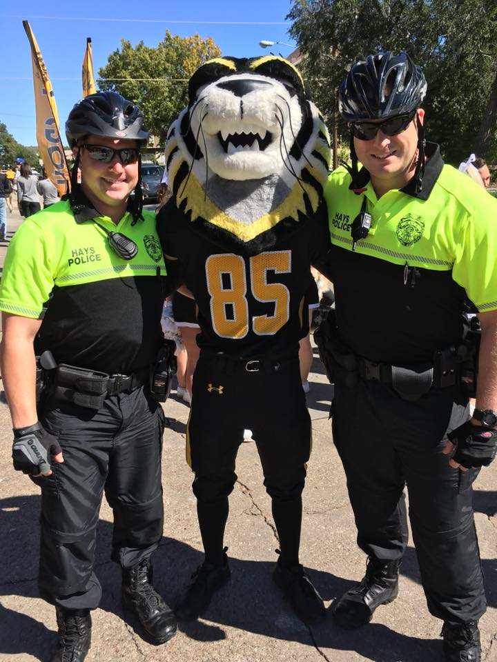 Bike Officers with Victor E. Tiger
