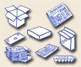 Drawing of Various Paper-Based Recyclables